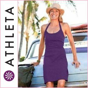 Athleta Purple Modra Halter Dress